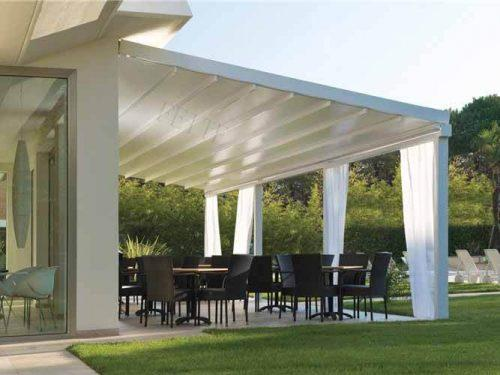 Remote Control Switch Garage Awning Cost PVC Roof Gazebo Balcony Retractable Pergola