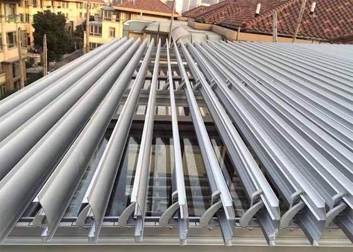 automatic folding Aluminium Louver Roof