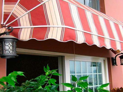 Half Round Roof Side Aluminium Alloy French Style Dome Awnings