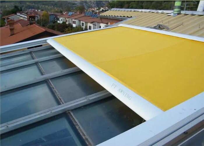 Motorized Skylight Awning Remote Control Roller Blinds