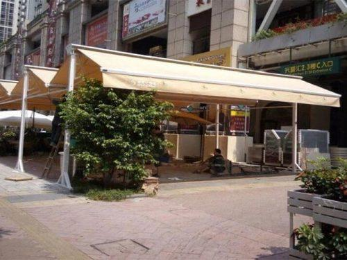 Outdoor Dining Area Protection Double Side Awning