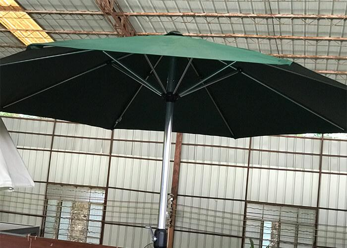 Outdoor Table Chair Courtyard with Umbrella Awning ,outdoor large beach umbrella