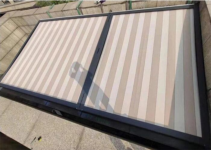Remote Control Skylight Fabric Awnings for Sunroom