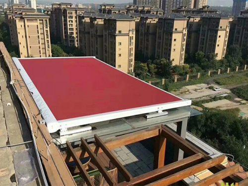 Retractable Motorized Balcony Conservatory Skylight Roof Awning