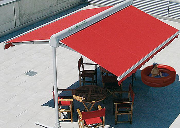 Supplier Freestanding Folding Two Side Arm Awning For Restaurant