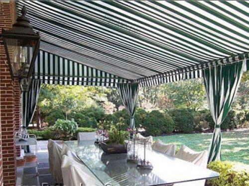 Electric Outdoor Full Cassette Retractable Folded Arm Awnings